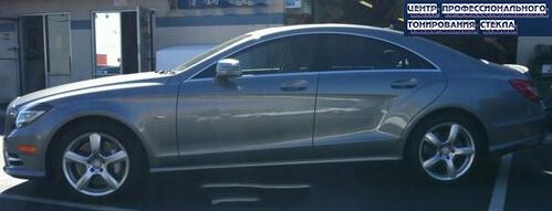 Пример тонировки боковых стекол Mercedes CLS 550 2013