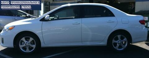 Пример тонировки боковых стекол Toyota Corolla 2013